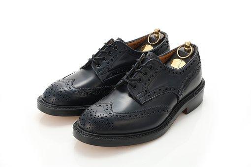 革靴, コードバン, 英国製, ウイングチップ, メダリオン