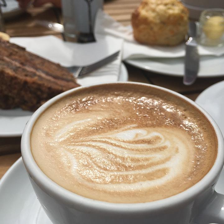 Coffee, Cake, Scones, Treat, Cafe, Break, Wood