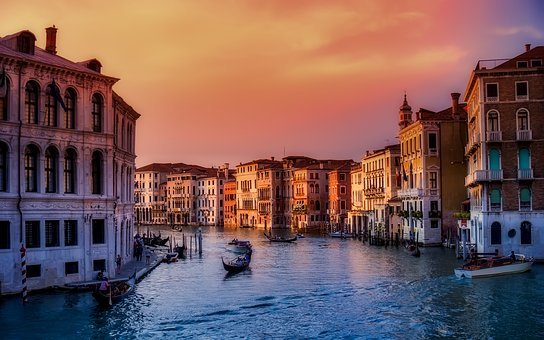 Venice, Italy, Boats, City, Urban
