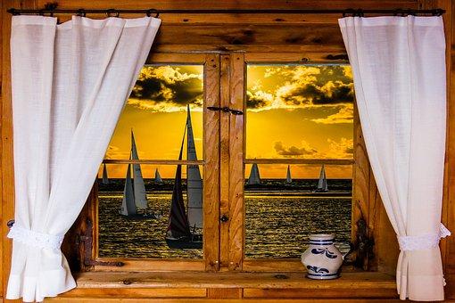 Architecture, Window, Nature, Landscape