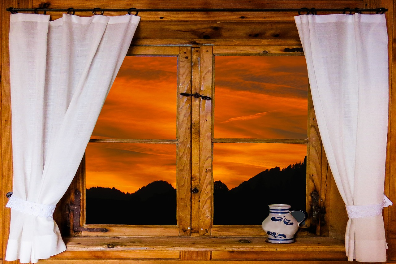 картинки красивые окна с занавесками последний