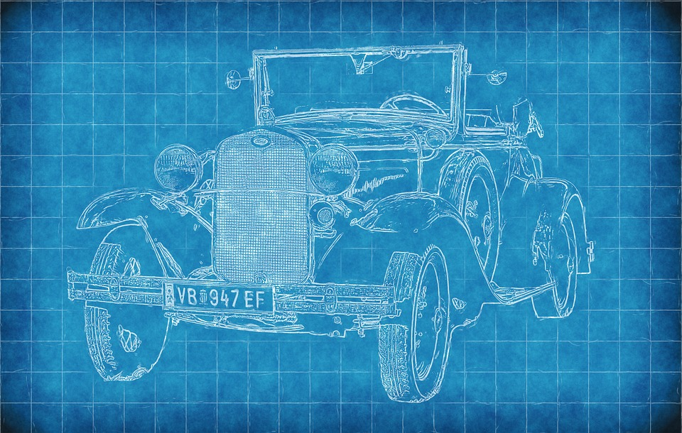 Car old blueprint free image on pixabay car old car blueprint paper lines art draw malvernweather Gallery