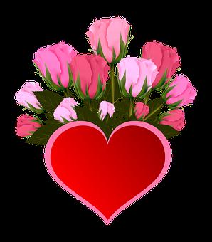 Fleurs, Roses, Rose, Bouquet, Coeur