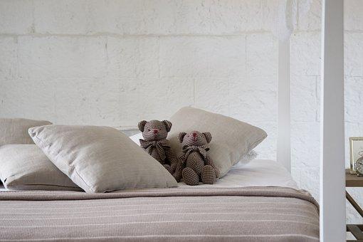 Bed, Sleep, Sheets, Room, Teddy Bear