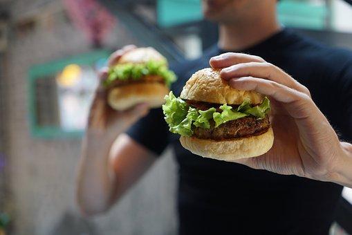 ハンバーガー, 菜食主義者, ベジタリアン, おいしい, ミートボール