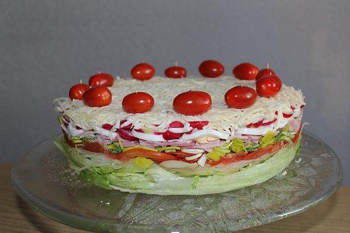 Salattorte, Torte, Salat, Snack, Party