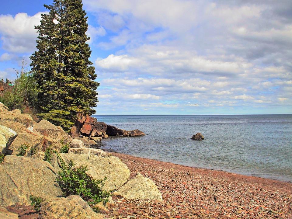 Lake Superior, Beach, North Shore, Minnesota, Landscape