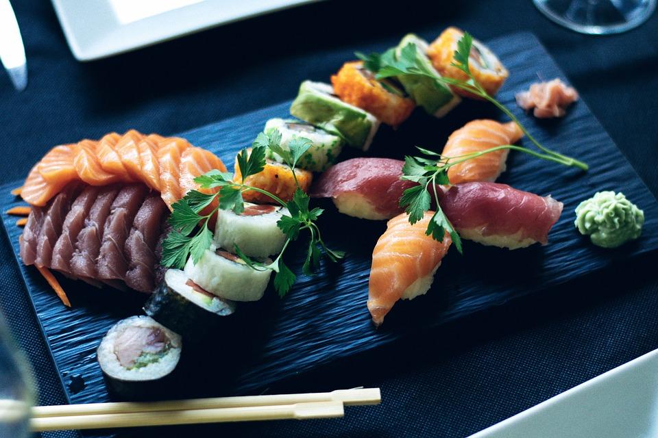 寿司, 鮭, 日本語, 日本料理, 電源, 魚, 大豆, サーモン