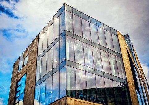 Home, Facade, Glass, Mirroring, Building