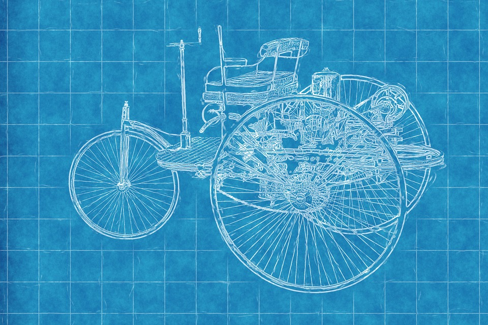 Car old blueprint free image on pixabay car old car blueprint paper lines art draw malvernweather Images