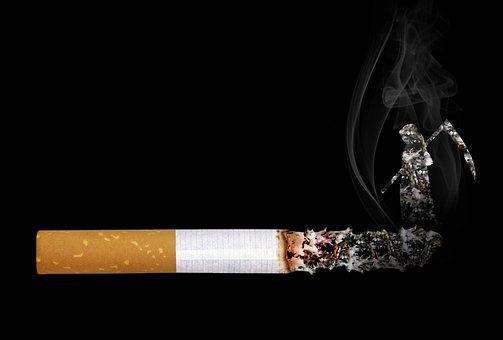 タバコ, 死神, 煙, 残り火, 灰, 口先だけの言葉, 傾き, 死, 病気
