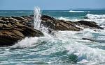 sea, rock, wave