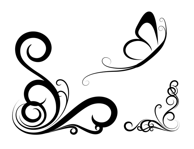 Картинка с вензелями