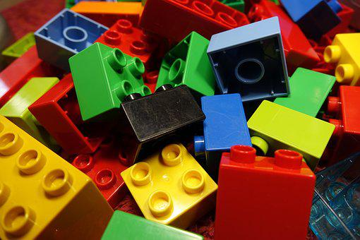 Lego Blocks, Duplo, Lego, Colorful, Toys