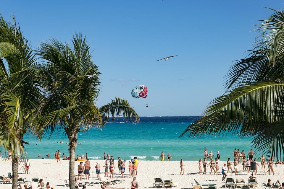 México, Cancún, Sun, Parte, Verano, Vacaciones, Playa