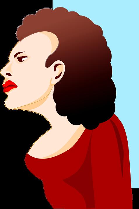 Perfil Mulher Feminino Desenho Grafico Vetorial Gratis No Pixabay