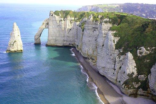 France, Normandy, Coast, Beach, Rocky