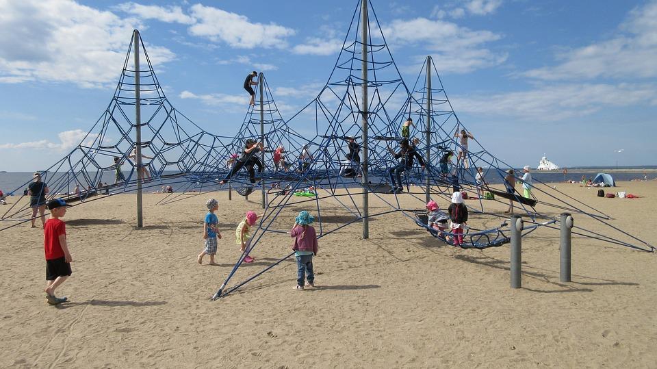 Nallikari, Oulu Finland, Beach, Children, Play Racks