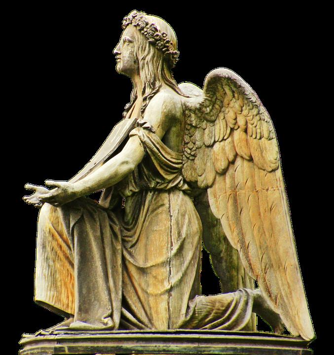 Engel, Steinengel, Grab, Friedlich, Religion, Religiös