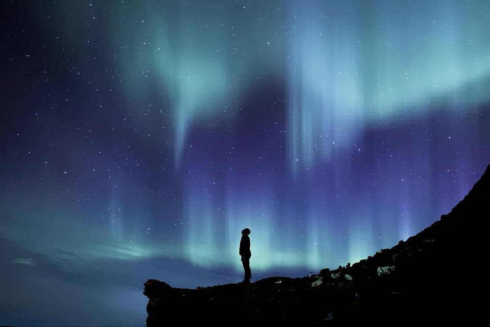 北極のオーロラ, ノーザンライツ, オーロラ, 北部, Borealis, 空, 泊, 自然, 天文学, 現象