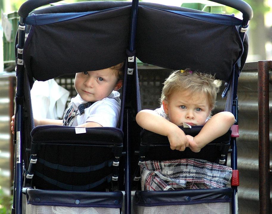 Enfants, Twins, Poussette