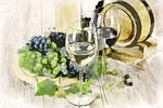 white, wine