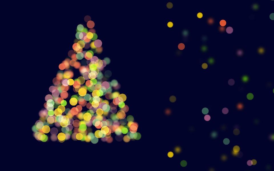 Abstract Christmas Tree Bokeh Blue 183 Free Image On Pixabay