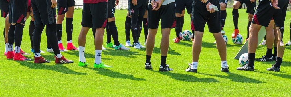 スポーツ, サッカー, ボール, ラッシュ, フットボール競技場, トレーニング