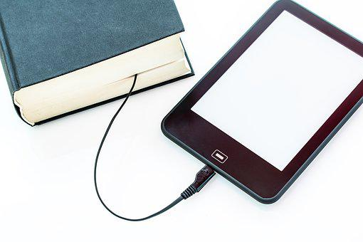 Ebook, Book, Charging Cable, Electronic