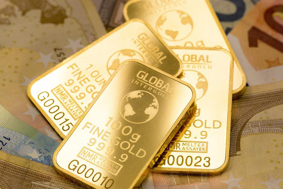 Goldbarren, Gold-Shop, Gold Ist Geld, Geld, Geschäft
