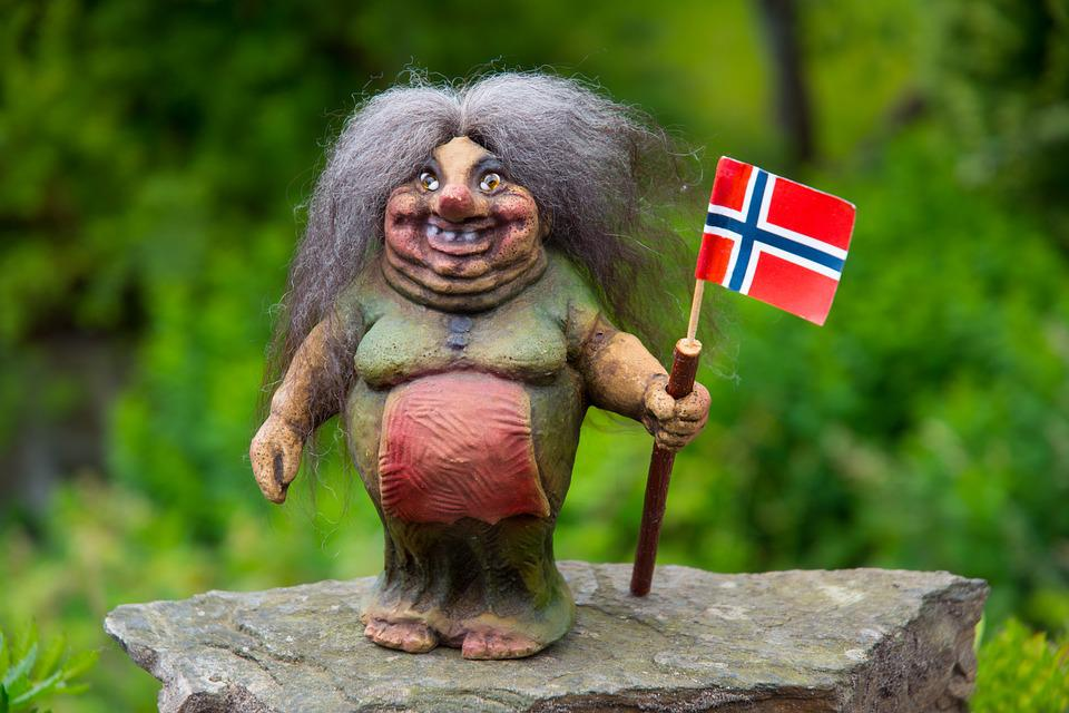 From which country did the troll doll originate?