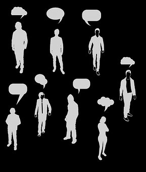 Thought, People, Silhouette, Crowd