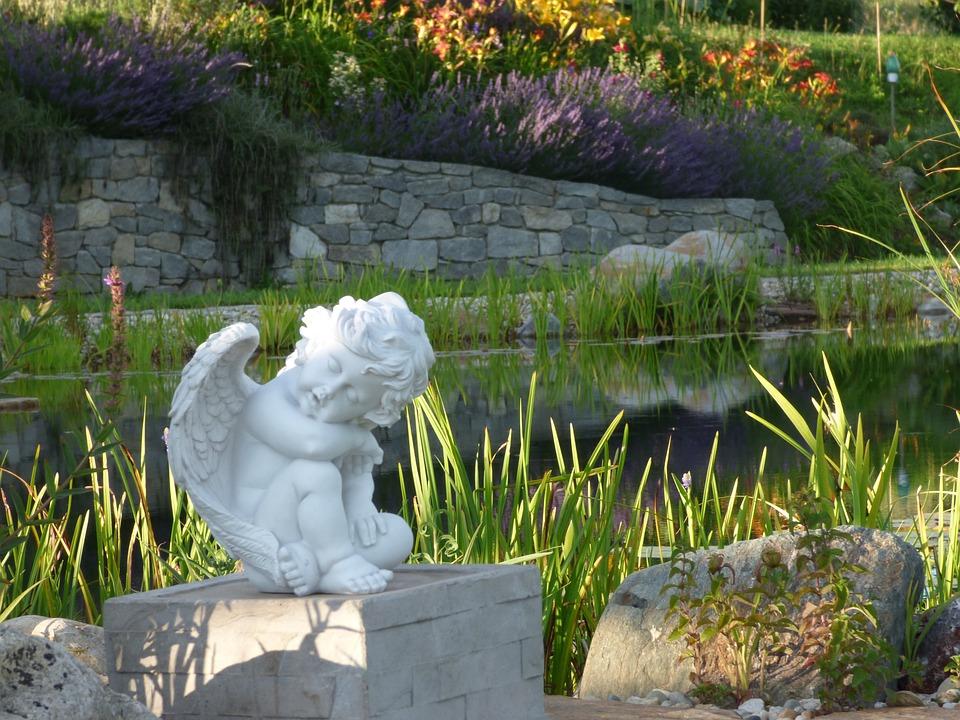 Engel Garten Skulptur Kostenloses Foto Auf Pixabay