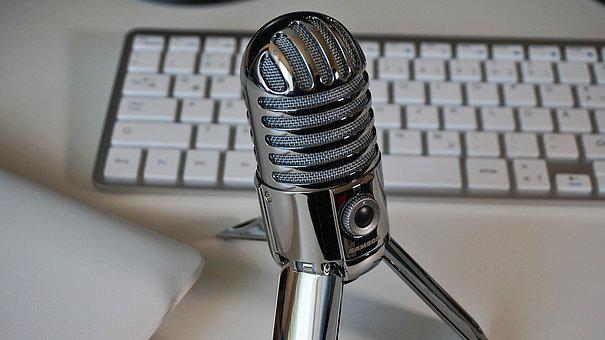 Microphone, Keyboard, Podcast