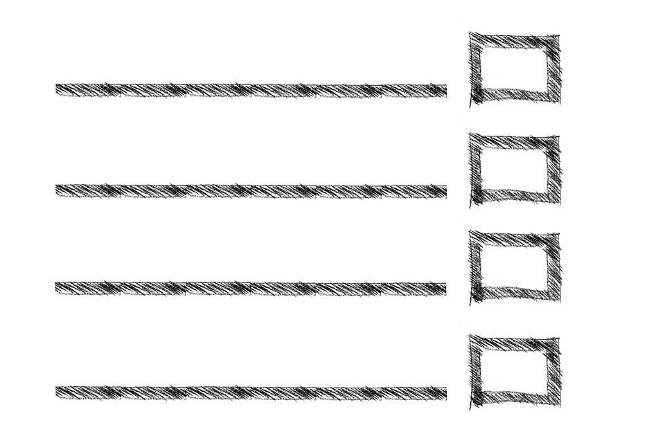 長方形、リスト、線、ショッピングリスト、ボックス、スケッチ