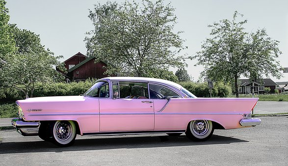 Car, Pink, Classic Car, Transport