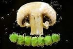 mushroom, peas, vegetables