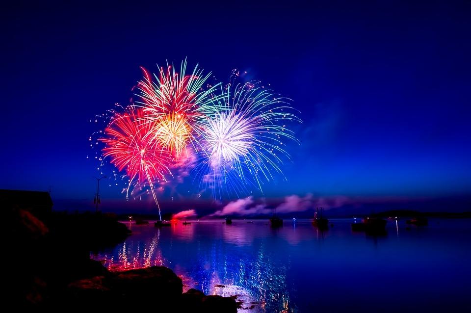 Fuochi D'Artificio, Colori, Colorato, Notte, Notturna
