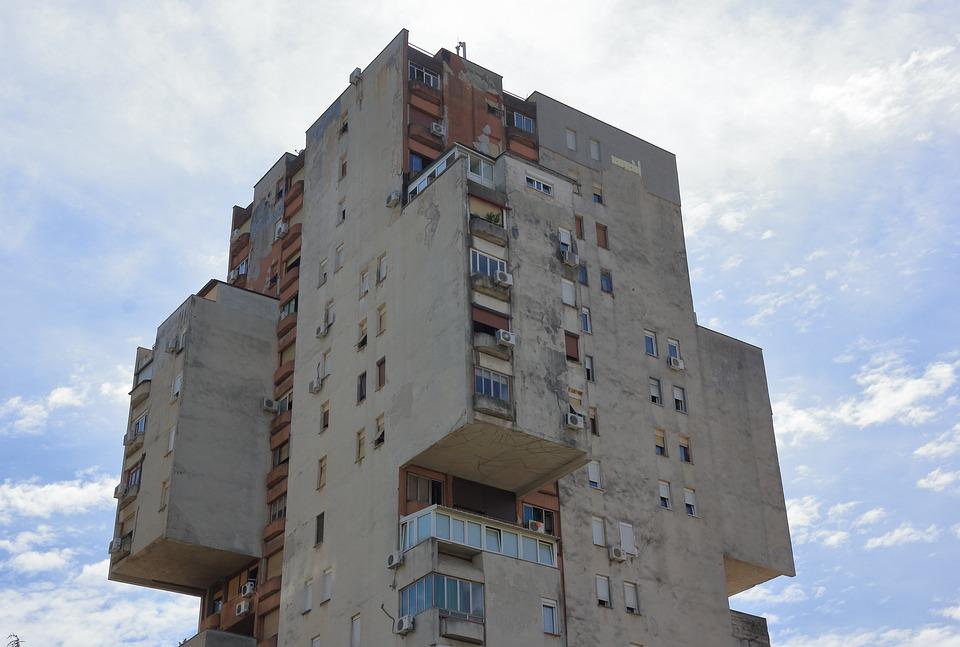Czarnogóra, Podgorica, Obudowa, Budynku, Wieża