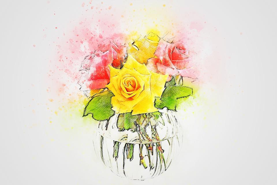 Flowers Vase Art Free Image On Pixabay
