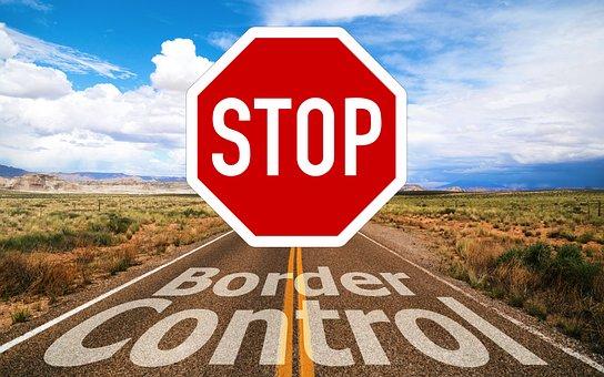 コロナ, Coronavirus, ウイルス, 国境警備隊, 罫線, 停止