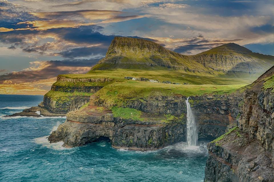 coastline waterfall landscape free photo on pixabay