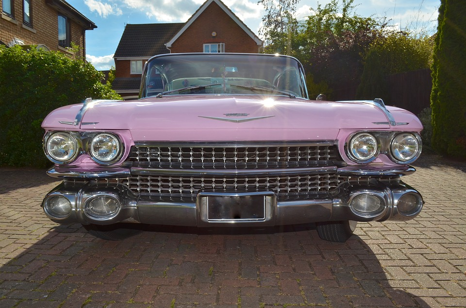American 50 S Car Pink Cadillac Free Photo On Pixabay
