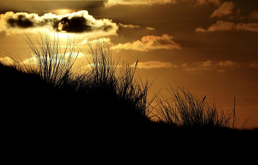 Abendstimmung, Zonsondergang, Hemel