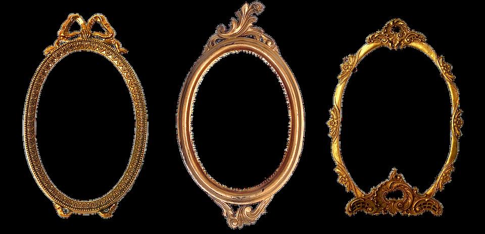 guld design Ramme Oval Udskåret · Gratis foto på Pixabay guld design