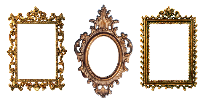 Frame, Carved, Gold, Design, Filigreed