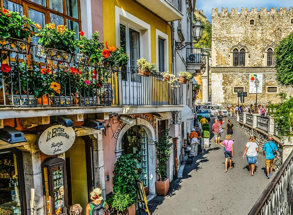 Italien, Sizilien, Italienisch, Taormina, Sizilianische