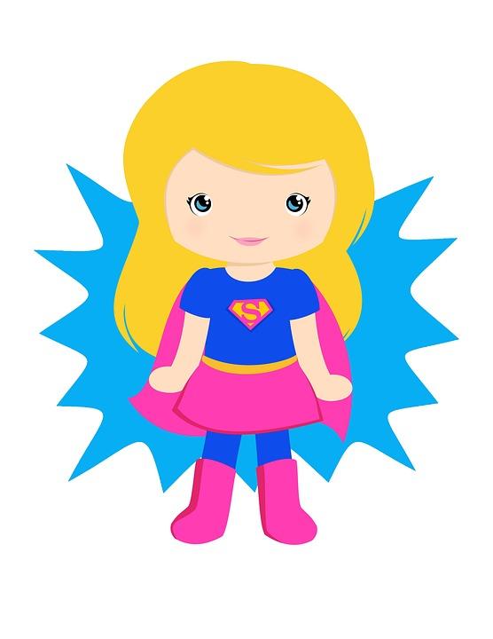 Supergirl, Super Girl, Rosa Super Chica, Niña, Super