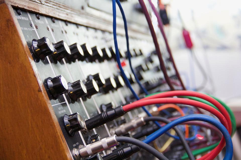 シンセサイザー, ムーグ, モジュラー, 電気, 楽器, キー, 音楽, ピアノ, キーボード, 機器