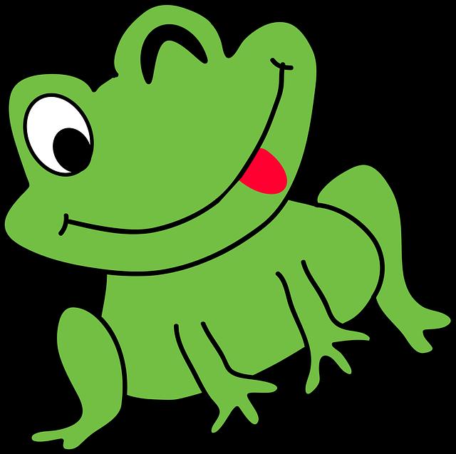 Cartoon frog funny free vector graphic on pixabay - Dessin d un crapaud ...